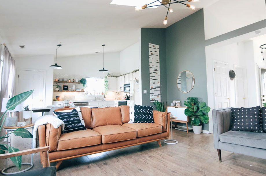 Inside view of home with couch | Home Insurance